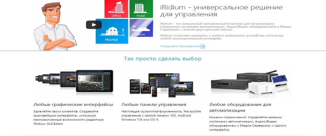 Iridium-управление с iPad